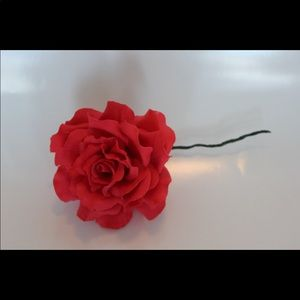 Other - Edible red rose cake topper